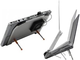 Base de Refrigeração USB em Alumínio para Portátil com 5 Cores à escolha, Regulação de Altura e Reposicionamento da Ventoinha por 19€. ENVIO IMEDIATO. PORTES INCLUÍDOS.