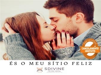ROMANCE no SDIVINE FÁTIMA HOTEL - Estadia em Suite com Pequeno Almoço e Oferta de Espumante e Fruta por 60€.