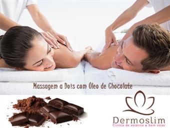 Massagem a Dois com Óleo de Chocolate na Clínica Dermoslim na Av. 5 de Outubro em Lisboa por 39€. Momentos Doces!
