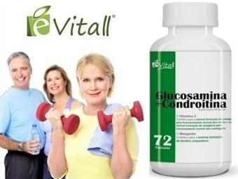 Glucosamina e Condroitina da é-Vitall: Frasco de 72 Cápsulas para 24 Dias por 13€. Mantém as Articulações Saudáveis. PORTES INCLUÍDOS. ENVIO IMEDIATO!