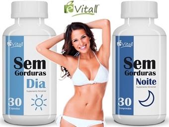 Sem Gorduras (Dia e Noite) da é-Vitall para 30 Dias por 13.50€. Queima Gorduras Total. PORTES INCLUÍDOS. ENVIO IMEDIATO!