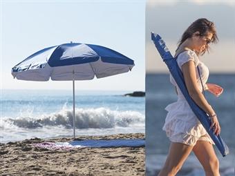 Chapéu de Sol com Proteção UV, Diâmetro de 2 Metros, Tubo Telescópico Inclinável e Bolsa de Transporte por 20€. ENVIO IMEDIATO. PORTES INCLUÍDOS.