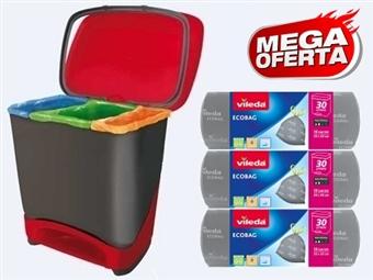 MEGA OFERTA: Balde Eco-Logic com 3 Rolos de Sacos de Lixo Ecobaags da VILEDA desde 21€. VER VIDEO. PORTES INCLUIDOS.