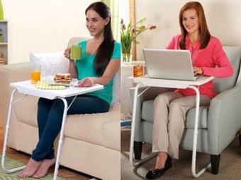 Mesa Portátil Dobrável com 18 posições para comer ou trabalhar na cama ou sofá por 17€. PORTES INCLUIDOS.