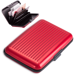 Porta-Cartões Alumínio Vermelha por 9.24€ PORTES INCLUÍDOS