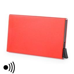 Porta-Cartões RFID Vermelho com Mecanismo Automático 146173 por 9.90€ PORTES INCLUÍDOS