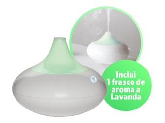 Difusor de Aromas e Humidificador com 1 Frasco de Aroma a Lavanda e Luz LED com 6 Cores desde 18€. PORTES INCLUÍDOS.