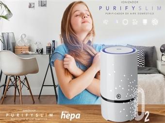 Ionizador e Purificador de Ar Purify Slim com Filtro HEPA por 36€. A Melhor Tecnologia ao seu alcance. PORTES INCLUÍDOS.