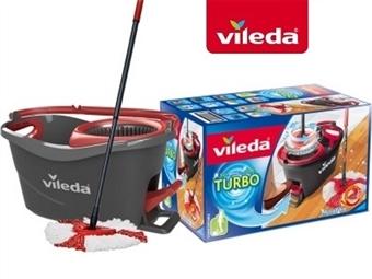 VILEDA TURBO com Esfregona e Balde com Pedal por 35€. PORTES INCLUIDOS.