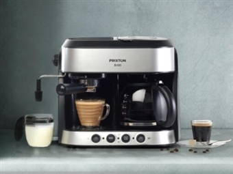 MÁQUINA DE CAFÉ EXPRESSO DUPLA com Função 3 em 1: Expresso, Americano e Cappuccino por 112€. PORTES INCLUÍDOS.