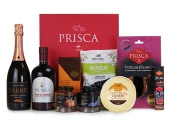 CABAZ BEIJA-FLOR da Casa da Prisca: Caixa Executive Vermelha Prisca composta por 8 Deliciosos Produtos por 57€. PORTES INCLUÍDOS.
