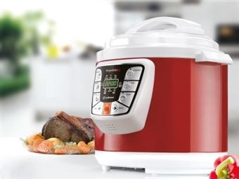Panela Programável Master Cook Red 3 em 1 com Voz, 6 Menus e 6 Litros por 66€. PORTES INCLUÍDOS.