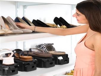 Organizador de Sapatos: Conjunto de 6 Unidades com 2 Cores por 19.50€. Maximizar o espaço nunca foi tão fácil! PORTES INCLUÍDOS.