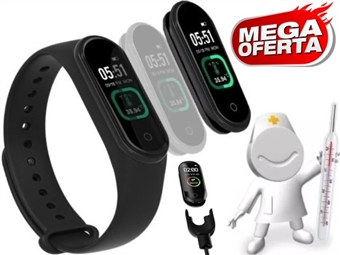 MEGA OFERTA: Smartband com Medição de Temperatura Corporal, Frequência Cardíaca e Muito Mais desde 21€. PORTES INCLUÍDOS.