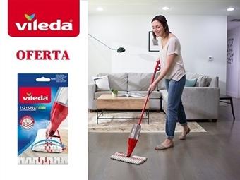 Mopa 1.2 Spray Max da VILEDA com Pulverizador por 27€. OFERTA: Recarga Extra. Remove mais de 99% das bactérias apenas com água. ENVIO IMEDIATO. PORTES INCLUIDOS.