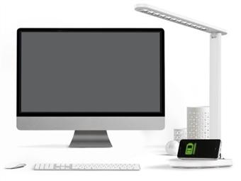 Lâmpada LED com Carregador Sem Fio para Telemóveis e Intensidade de Luz Ajustável por 54€. Para a sua Casa ou Escritório. PORTES INCLUÍDOS.