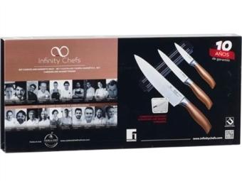 Conjunto de 3 Facas Infinity Chef, com Barra Magnética por 29€. Descubra o Chef que há em Si. PORTES INCLUÍDOS!