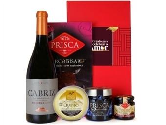 CABAZ PARA ELE 1 da Casa da Prisca: Caixa Vermelha composta por 5 Deliciosos Produtos por 34.50€. PORTES INCLUÍDOS.