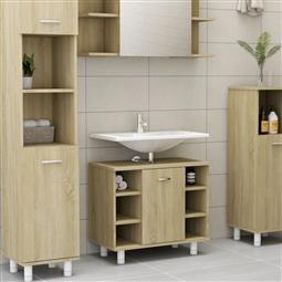 Armário casa de banho 60x32x53,5 cm contrapl. carvalho sonoma por 131.34€ PORTES INCLUÍDOS