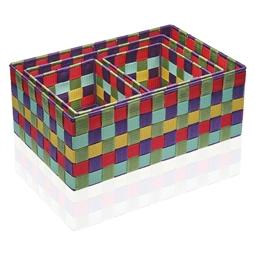Conjunto de Caixas de Organização Empilháveis Têxtil (4 Peças) (25 x 15 x 38 cm) por 36.96€ PORTES INCLUÍDOS