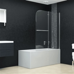 Divisória de chuveiro dobrável 2 painéis ESG 120x140 cm por 215.16€ PORTES INCLUÍDOS