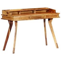 Secretária 115x50x85 cm madeira de sheesham maciça por 362.34€ PORTES INCLUÍDOS