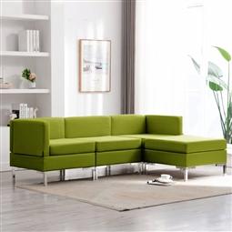 4 pcs conjunto de sofás tecido verde por 543.84€ PORTES INCLUÍDOS