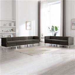 7 pcs conjunto de sofás tecido cinzento-acastanhado por 974.82€ PORTES INCLUÍDOS