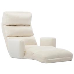 Sofá-cama sem pés e com apoio de braços tecido creme por 227.70€ PORTES INCLUÍDOS