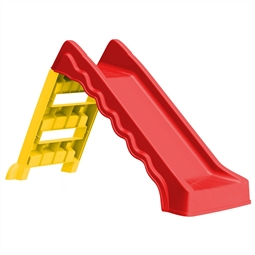 Escorrega dobrável infantil interior/exterior vermelho/amarelo por 88.44€ PORTES INCLUÍDOS
