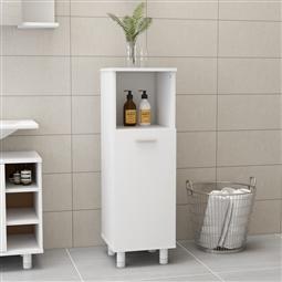 Armário de casa de banho 30x30x95 cm contraplacado branco por 94.38€ PORTES INCLUÍDOS