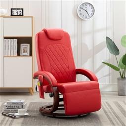 Cadeira de massagens reclinável TV couro artificial vermelho por 390.72€ PORTES INCLUÍDOS