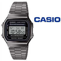 Relógio Casio®Retro Digital A168WEGG-1AEF Vintage ICONIC por 69.30€ PORTES INCLUÍDOS