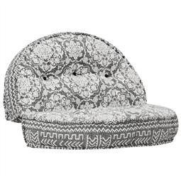 Sofá 120x20 cm tecido cinzento-claro por 218.46€ PORTES INCLUÍDOS