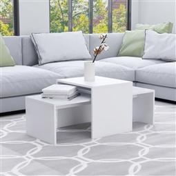 Conjunto mesas de centro 100x48x40 cm contraplacado branco por 95.70€ PORTES INCLUÍDOS