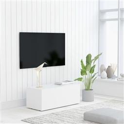 Móvel de TV 80x34x30 cm contraplacado branco por 124.08€ PORTES INCLUÍDOS