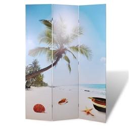 Biombo dobrável com estampa de praia 120x170 cm por 108.24€ PORTES INCLUÍDOS