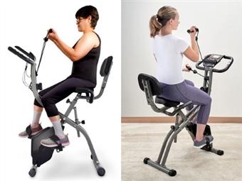 Bicicleta Estática com 2 Fitas de Tensão para Exercício dos Braços por 235€. Fique em forma sem sair de casa. PORTES INCLUIDOS.