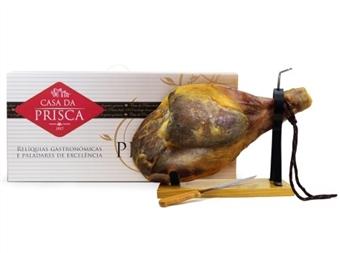 Pack Especial: Presunto Cura Clássica da Casa da Prisca com Oferta de Tábua + Faca por 64€.