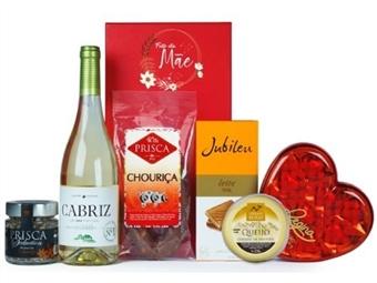 DIA DA MÃE - CABAZ MÃE TERNURA da Casa da Prisca: Caixa vermelha Exclusive composta por 7 Deliciosos Produtos por 38.50€. PORTES INCLUÍDOS.