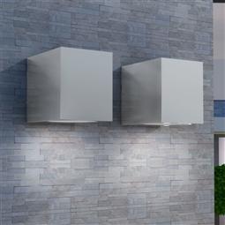 Candeeiros parede, LED inferior, p/ exterior, 2 pcs, quadrado por 49.50€ PORTES INCLUÍDOS