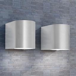 Candeeiros parede LED inferior p/exterior 2 pcs redondo por 54.12€ PORTES INCLUÍDOS