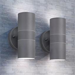 Candeeiros LED parede iluminação sup/inf exterior 2 pcs aço inox. por 74.58€ PORTES INCLUÍDOS