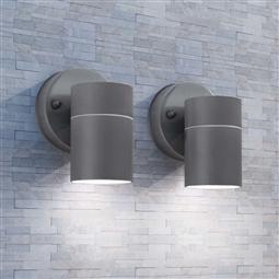 Candeeiros parede iluminação inf. p/ exterior 2 pcs aço inox. por 50.82€ PORTES INCLUÍDOS