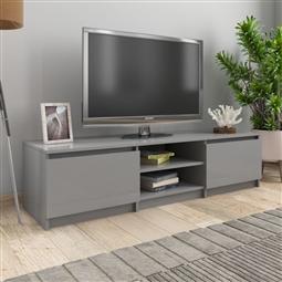 Móvel de TV 140x40x35,5 cm contraplacado cinzento brilhante por 167.64€ PORTES INCLUÍDOS