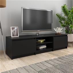 Móvel de TV 140x40x35,5 cm contraplacado preto por 170.28€ PORTES INCLUÍDOS