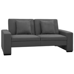 Sofá-cama couro artificial cinzento por 379.50€ PORTES INCLUÍDOS