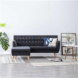 Sofá em tecido c/ forma de L 171,5x138x81,5 cm cinzento escuro por 508.20€ PORTES INCLUÍDOS