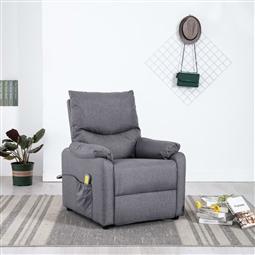 Poltrona de massagens reclinável tecido cinzento-claro por 378.18€ PORTES INCLUÍDOS