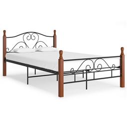 Estrutura de cama 120x200 cm metal preto por 249.48€ PORTES INCLUÍDOS